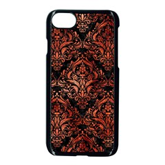 Damask1 Black Marble & Copper Paint (r) Apple Iphone 8 Seamless Case (black) by trendistuff