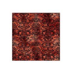 Damask2 Black Marble & Copper Paint Satin Bandana Scarf by trendistuff