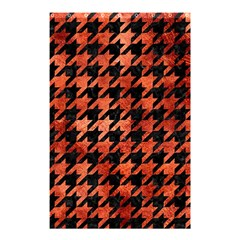 Houndstooth1 Black Marble & Copper Paint Shower Curtain 48  X 72  (small)  by trendistuff