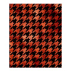 Houndstooth1 Black Marble & Copper Paint Shower Curtain 60  X 72  (medium)  by trendistuff