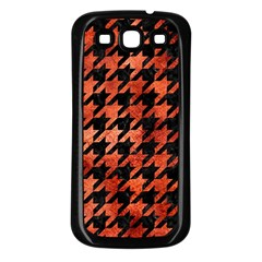 Houndstooth1 Black Marble & Copper Paint Samsung Galaxy S3 Back Case (black) by trendistuff