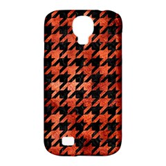 Houndstooth1 Black Marble & Copper Paint Samsung Galaxy S4 Classic Hardshell Case (pc+silicone) by trendistuff