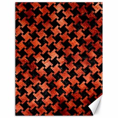 Houndstooth2 Black Marble & Copper Paint Canvas 18  X 24