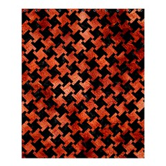 Houndstooth2 Black Marble & Copper Paint Shower Curtain 60  X 72  (medium)  by trendistuff