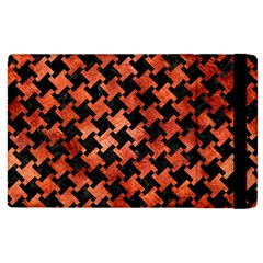 Houndstooth2 Black Marble & Copper Paint Apple Ipad 2 Flip Case by trendistuff
