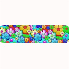 Flowers Ornament Decoration Large Bar Mats by Celenk