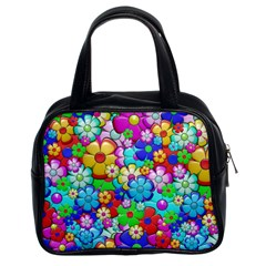 Flowers Ornament Decoration Classic Handbags (2 Sides)