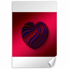 Heart Love Luck Abstract Canvas 24  X 36  by Celenk