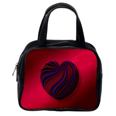 Heart Love Luck Abstract Classic Handbags (one Side) by Celenk