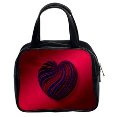 Heart Love Luck Abstract Classic Handbags (2 Sides)