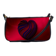 Heart Love Luck Abstract Shoulder Clutch Bags by Celenk