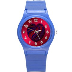 Heart Love Luck Abstract Round Plastic Sport Watch (s)