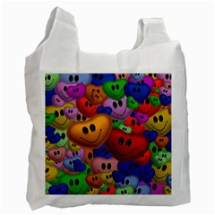Heart Love Smile Smilie Recycle Bag (two Side)