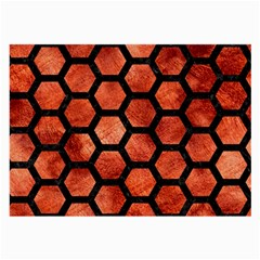 Hexagon2 Black Marble & Copper Paint Large Glasses Cloth (2 Side) by trendistuff