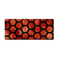 Hexagon2 Black Marble & Copper Paint Cosmetic Storage Cases by trendistuff