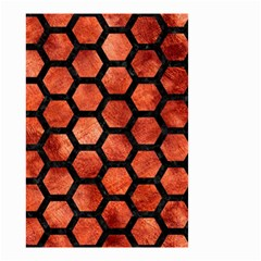 Hexagon2 Black Marble & Copper Paint Small Garden Flag (two Sides) by trendistuff
