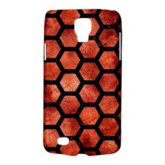 Hexagon2 Black Marble & Copper Paint Galaxy S4 Active by trendistuff