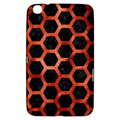Hexagon2 Black Marble & Copper Paint (r) Samsung Galaxy Tab 3 (8 ) T3100 Hardshell Case  by trendistuff