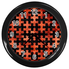Puzzle1 Black Marble & Copper Paint Wall Clocks (black) by trendistuff