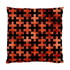 Puzzle1 Black Marble & Copper Paint Standard Cushion Case (one Side) by trendistuff