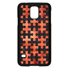 Puzzle1 Black Marble & Copper Paint Samsung Galaxy S5 Case (black) by trendistuff