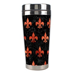 Royal1 Black Marble & Copper Paint Stainless Steel Travel Tumblers by trendistuff