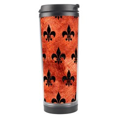 Royal1 Black Marble & Copper Paint (r) Travel Tumbler by trendistuff
