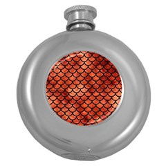 Scales1 Black Marble & Copper Paint Round Hip Flask (5 Oz) by trendistuff