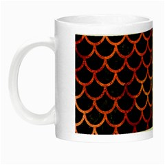 Scales1 Black Marble & Copper Paint (r) Night Luminous Mugs by trendistuff