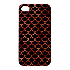 Scales1 Black Marble & Copper Paint (r) Apple Iphone 4/4s Hardshell Case by trendistuff