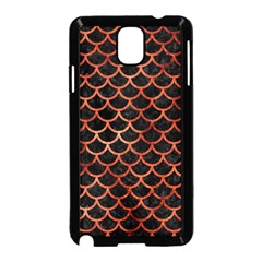 Scales1 Black Marble & Copper Paint (r) Samsung Galaxy Note 3 Neo Hardshell Case (black) by trendistuff