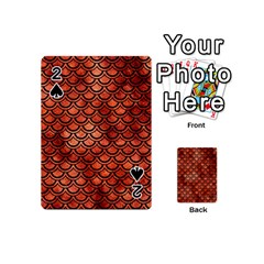 Scales2 Black Marble & Copper Paint Playing Cards 54 (mini)  by trendistuff