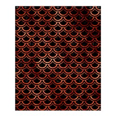 Scales2 Black Marble & Copper Paint (r) Shower Curtain 60  X 72  (medium)  by trendistuff