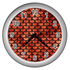 Scales3 Black Marble & Copper Paint Wall Clocks (silver)  by trendistuff