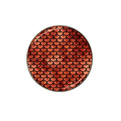 Scales3 Black Marble & Copper Paint Hat Clip Ball Marker by trendistuff