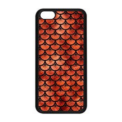 Scales3 Black Marble & Copper Paint Apple Iphone 5c Seamless Case (black) by trendistuff