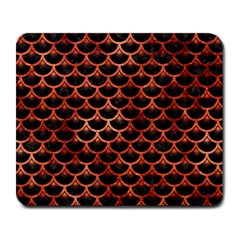 Scales3 Black Marble & Copper Paint (r) Large Mousepads by trendistuff