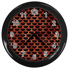 Scales3 Black Marble & Copper Paint (r) Wall Clocks (black) by trendistuff