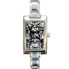 Neurons Brain Cells Brain Structure Rectangle Italian Charm Watch