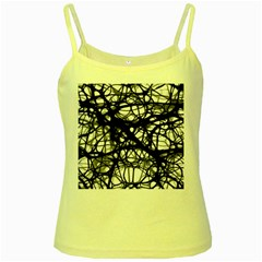 Neurons Brain Cells Brain Structure Yellow Spaghetti Tank by Celenk