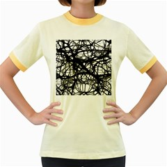 Neurons Brain Cells Brain Structure Women s Fitted Ringer T-Shirts