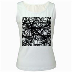 Neurons Brain Cells Brain Structure Women s White Tank Top
