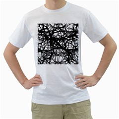 Neurons Brain Cells Brain Structure Men s T-Shirt (White) (Two Sided)