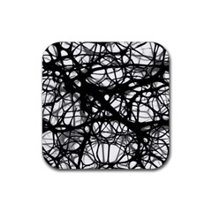 Neurons Brain Cells Brain Structure Rubber Square Coaster (4 pack)