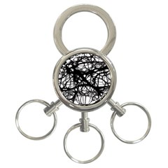 Neurons Brain Cells Brain Structure 3-Ring Key Chains