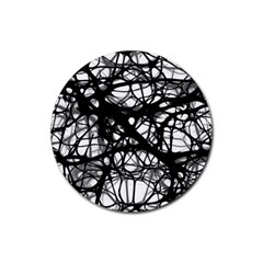 Neurons Brain Cells Brain Structure Rubber Round Coaster (4 pack)