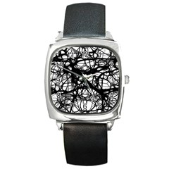 Neurons Brain Cells Brain Structure Square Metal Watch