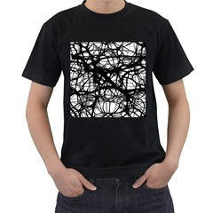 Neurons Brain Cells Brain Structure Men s T-Shirt (Black) (Two Sided)