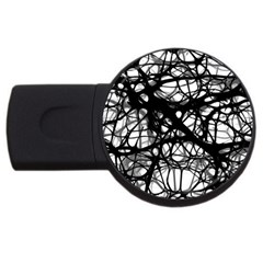 Neurons Brain Cells Brain Structure USB Flash Drive Round (4 GB)