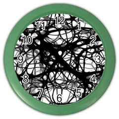 Neurons Brain Cells Brain Structure Color Wall Clocks